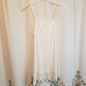 Cream crocheted lace dress